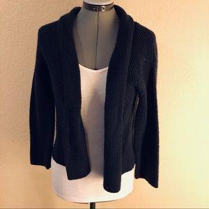 XS Navy Wool Crop Cardigan